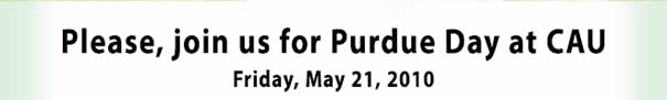 Please join us for Purdue Day at CAU - Friday May 2