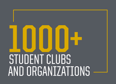 1000 plus student clubs and organizations
